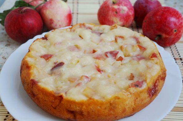 Яблочный пирог в мультиварке без яиц рецепты