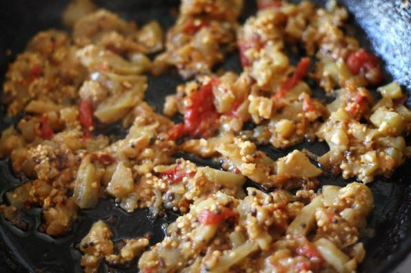 Тушеные баклажаны с рисом и мясом