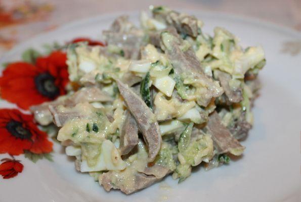 салат с языками рецепт