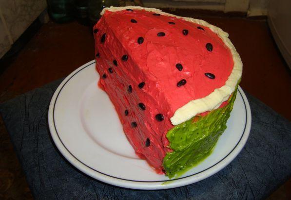 Рецепт арбуз торт