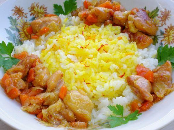 Фото: Рис с шафраном