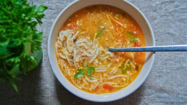 Вермишелевый суп с мясом рецепт