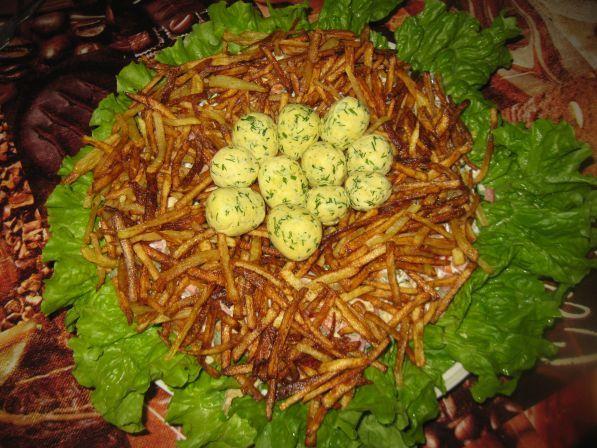 Гнездо глухаря рецепт с фото пошагово
