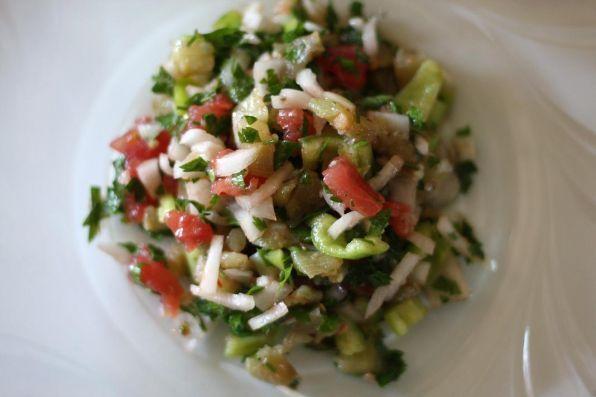 салат с отварными баклажанами и перцем рецепт с фото