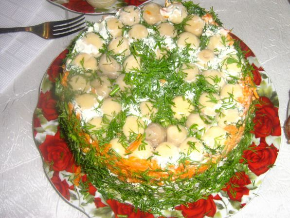 готовим дома рецепты салат грибнаяполяна