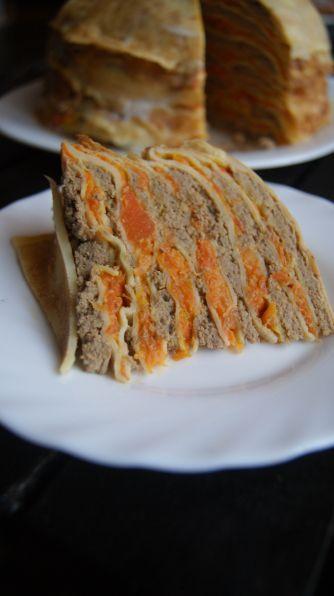 Фото: Блинно-печеночный торт
