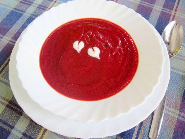 Свекольный крем-суп с фетой – кулинарный рецепт