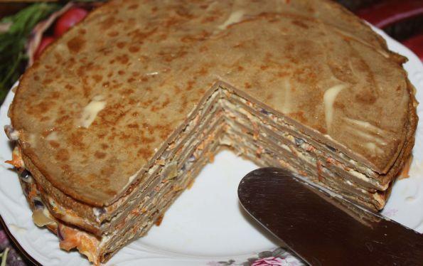 Печеночный торт из куриной печени рецепт готовим дома