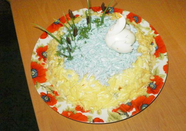 Салат озеро рецепт с фото