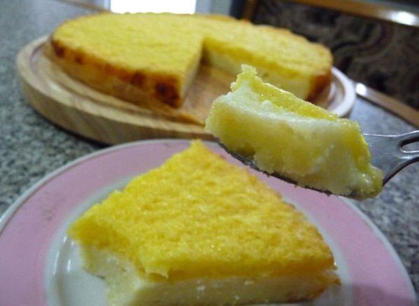 Творожный пирог с апельсинами фото