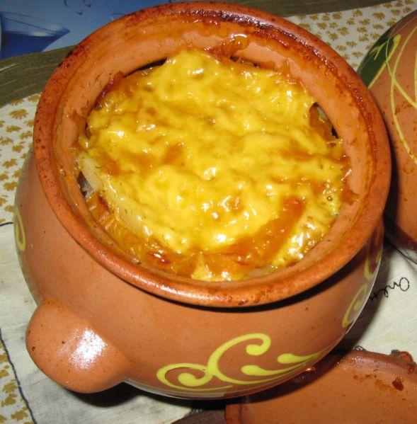 горшочки с мясом и картофелем в духовке рецепт с сыром фото рецепт
