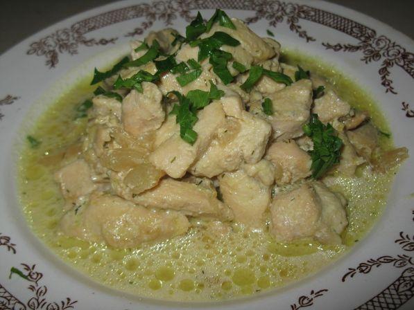 Поджарка куриная в сметанном соусе рецепт