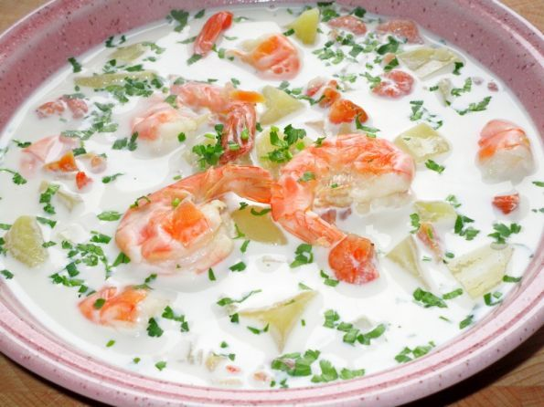 Рецепт супа для мультиварки из креветок